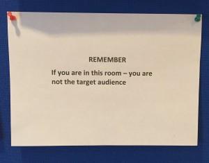 Audience advice